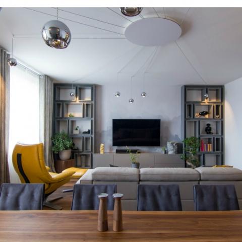 Дизайн-проект двухуровневой квартиры для активной семьи (фото)