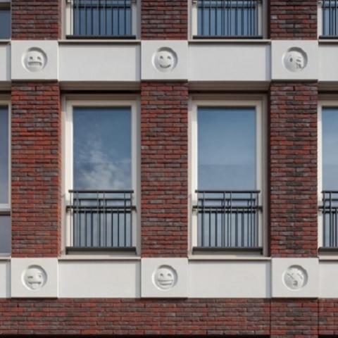 Дом со смайликами в Нидерландах