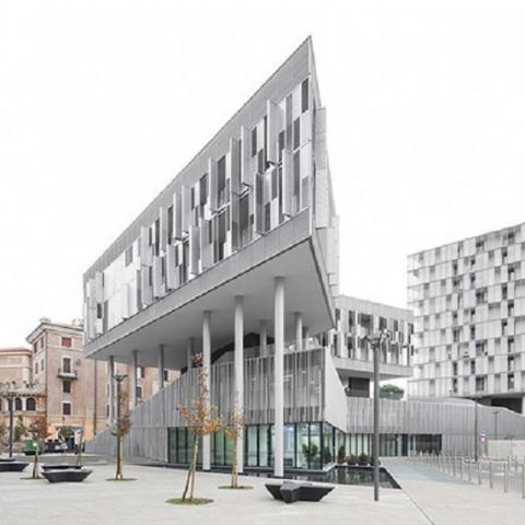 Футуристическая архитектура ЖК в Риме