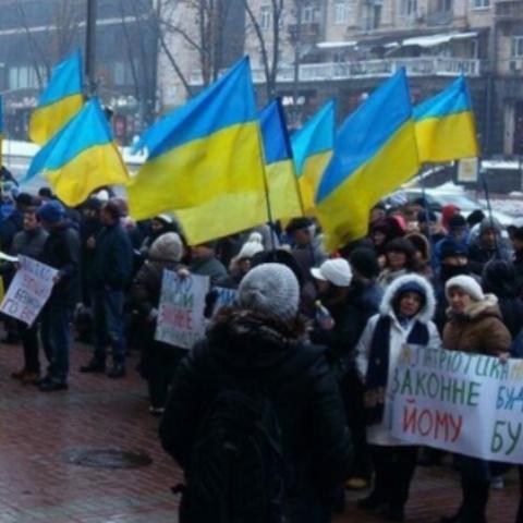 Инвесторы  ЖК Патриотика на Озерах митингуют под зданием Киевсовета