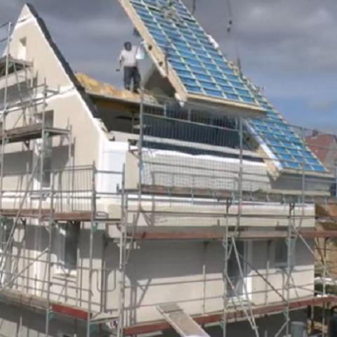 Как в Германии строят дома в один день (видео)