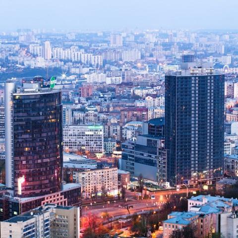 Киев постепенно становится городом жилых небоскребов