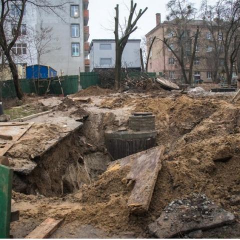 Киевляне будут восстанавливать перерытый «Киевэнерго» город за свой счет