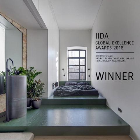 Киевский проект получил международную премию за дизайн «маленькой» квартиры