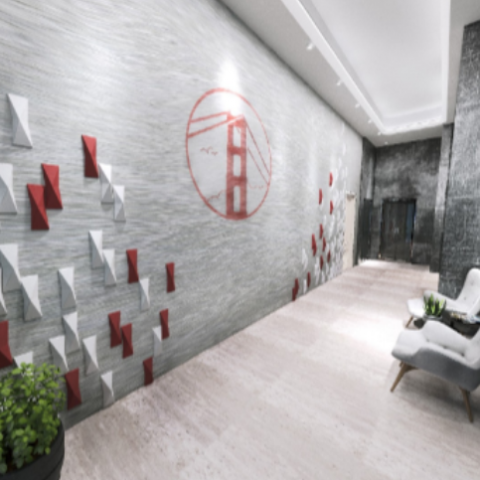 Лофт и живые цветы: какими будут холлы в SAN FRANCISCO Creative House