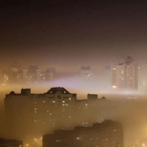 Местами загрязнение воздуха в Киеве превышает норму в 7 раз