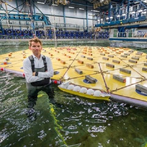 Модель плавучего города создана в Голландии