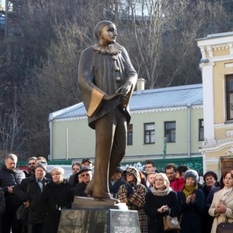 На Андреевском спуске открыли памятник Александру Вертинскому
