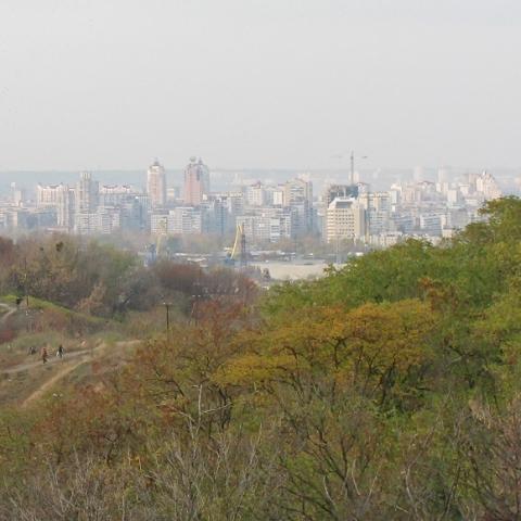 На исторической горе в Киеве рубят деревья и собираются построить ЖК
