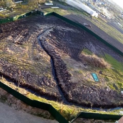 На Киевщине ради новостроек засыпали озеро и два источника