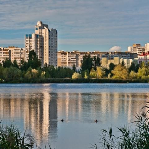 На озере Лебединое строят очистные сооружения