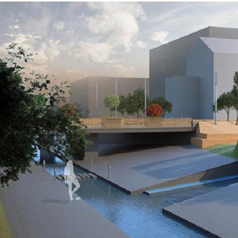 Начался первый этап реализации общественного пространства на реке Лыбидь