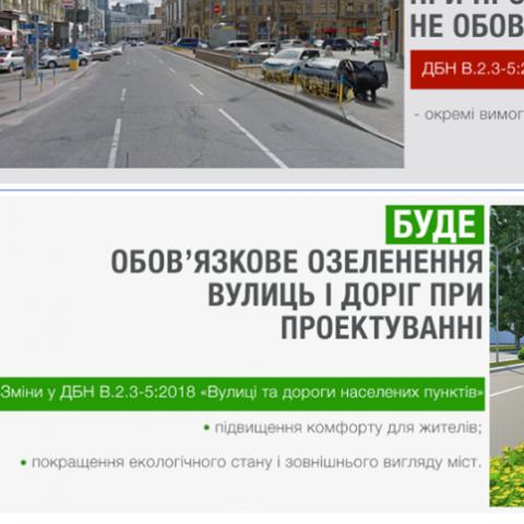 Озеленение будет обязательным при проектировании улиц и дорог