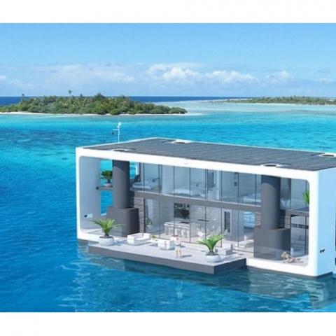 Плавучий дом с защитой от ураганов