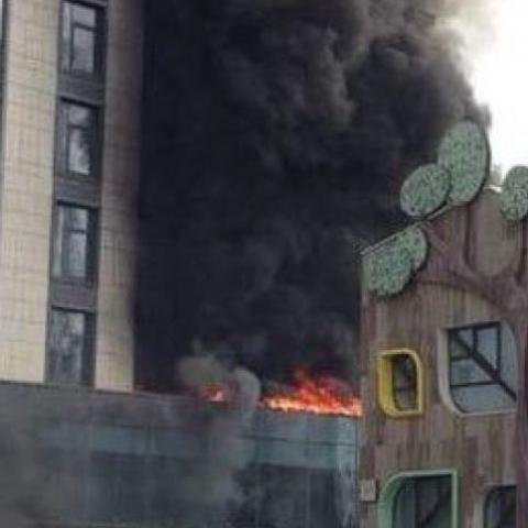 Пожар в Новопечерских Липках. Застройщик сообщил подробности возгорания