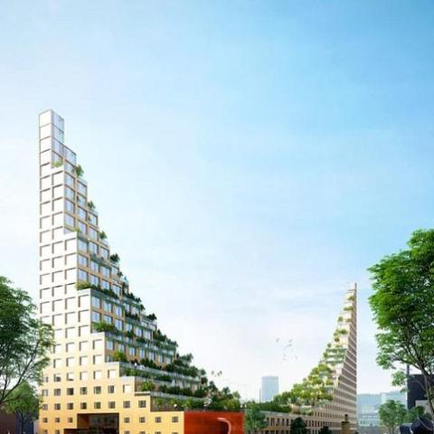Проект эко-здания «Холм с садом»