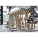 Робот строит деревянный дом в Швейцарии