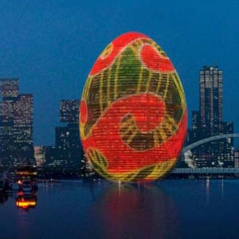 Символом Киева хотят сделать гигантское яйцо