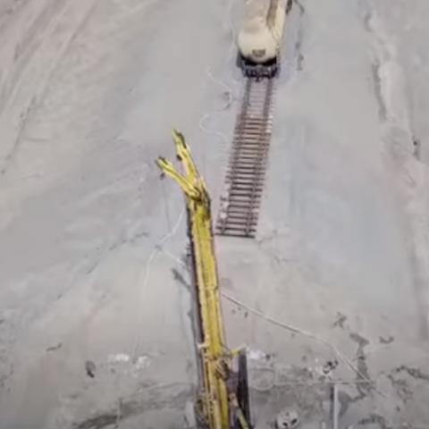 Гройсман показал строительство скоростной железной дороги в «Борисполь»