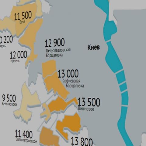Цены в новостройках Киевской области в феврале: где снизились и где повысились цены на квартиры