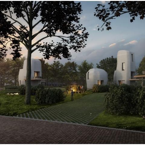 В Голландии на 3D-принтере напечатают жилой квартал