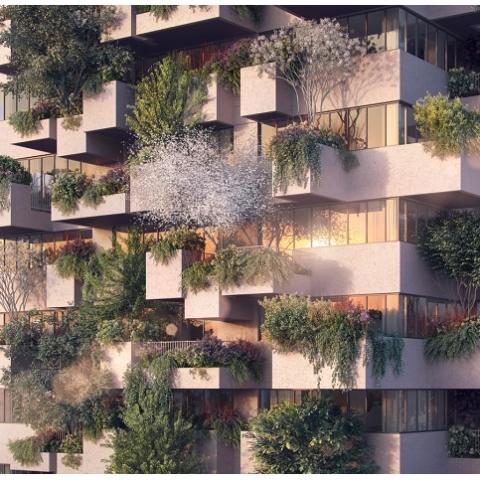 В Голландии появится соцжилье с озелененным фасадом