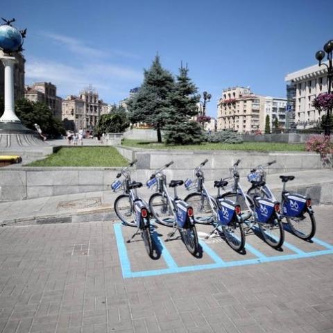 В Киеве начала работу новая система велопроката