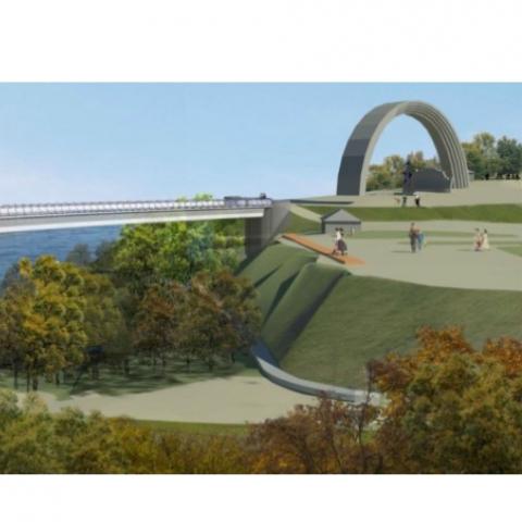 В Киеве появится новый пешеходно-велосипедный мост