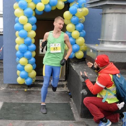 В Киеве прошел первый вертикальный забег