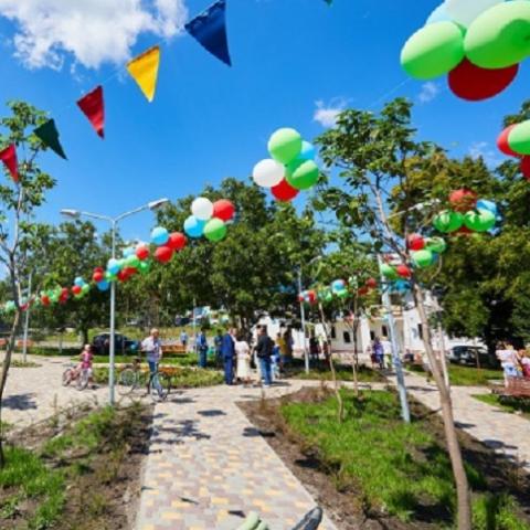 В селе Подгорцы открыли общественный сквер