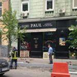 В центре столицы обрушилась часть фасада здания