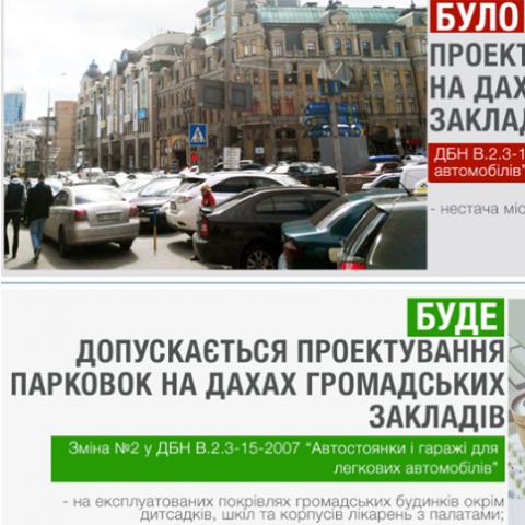 В Украине могут появиться паркинги для автомобилей на крышах зданий