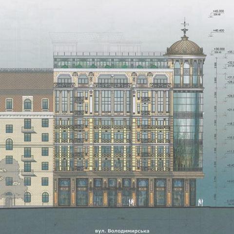 Возле Софии Киевской собираются построить 10-этажку с башней