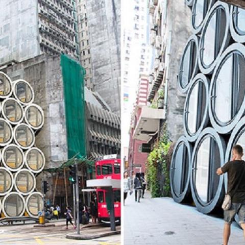 В Гонконге обустраивают жилье в бетонных трубах