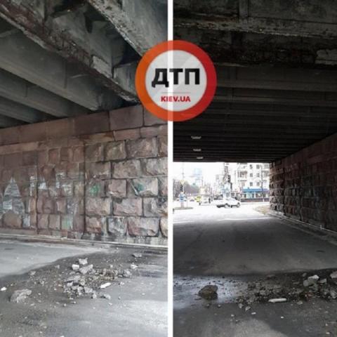 В Киеве разрушается Воздухофлотский путепровод