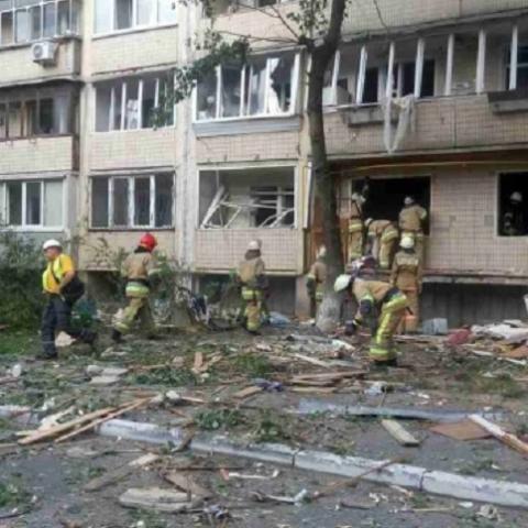 Взорвавшийся в Голосеевском районе дом будут восстанавливать