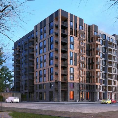 ЖК бизнес-класса в пригороде Киева на начальном этапе строительства