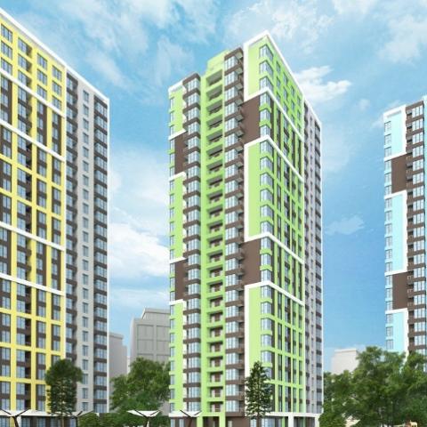 Строительство ЖК Академ-квартал:  построено уже пять этажей